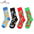 2016 New Fashion Unisex Paisleys Pattern Cartoon High Socks Mens Womens Cotton Warm Autumn Winter Sock Females Casual