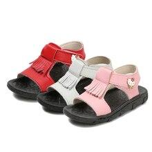 Привіт Китти взуття 2017 Літній пляж М'які дешеві дівчата сандалі з EVA маленький малюк Діти Дитяча квартира Маленькі дівчата взуття Pink