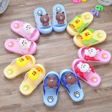 2019 Cartoon Characters Slippers for Boy Girl  Summer Animal Kids Baby PVC non-Slip Beach shoes