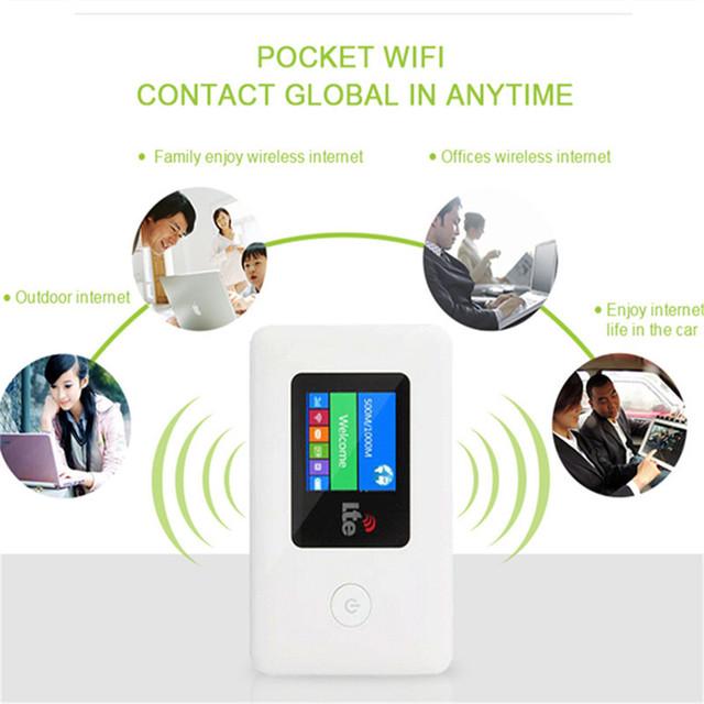 4G WIFI router samochodowy mobilny hotspot bezprzewodowy szerokopasmowy kieszonkowy MiFi Unlock modem LTE Wireless WiFi Extender Repeater Mini router
