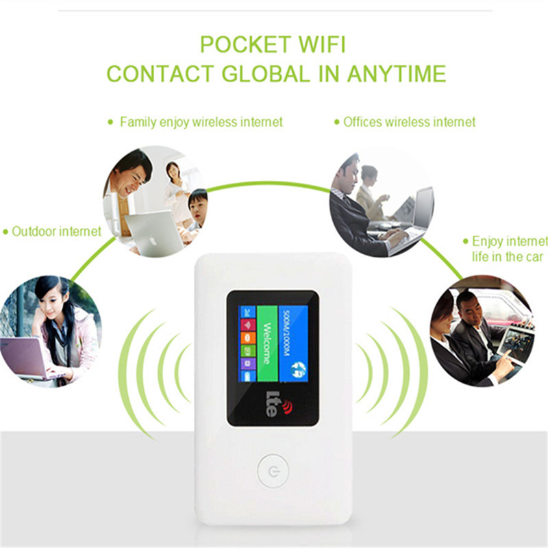 4G WIFI routeur voiture Hotspot Mobile sans fil haut débit poche Mifi déverrouiller LTE Modem sans fil Wifi Extender répéteur Mini routeur - 4