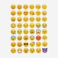 4 листы горячей популярные наклейка 48 Emoji усмешки наклейки для ноутбуков, сообщение Twitter Большой Viny Instagram Классические игрушки