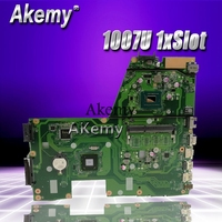 Akemy X551CA Laptop motherboard for ASUS X551CA X551CAP X551C X551 F551C F551CA Test original mainboard 1007U 1xSlot