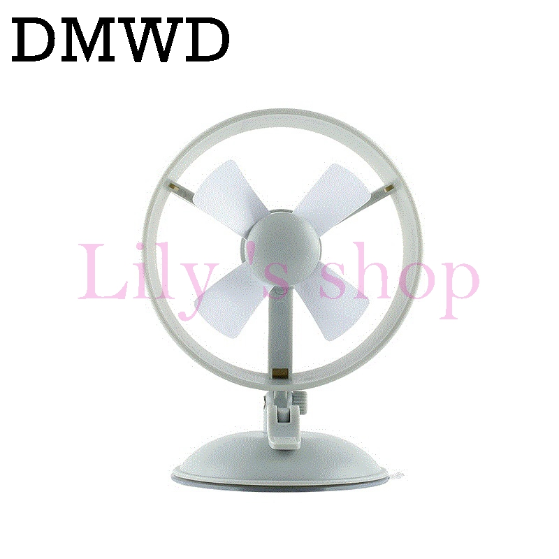 DMWD 6 inch Mini USB Powered cooling fan Desktop PC Laptop wind cooler blower portable car use air conditioning fan with suckers
