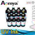 LED UV curable ink suit For Epson R290 printerhead specially printing on glass, ceramic, plastic for 3D effects, 500ml/pcs, 6C