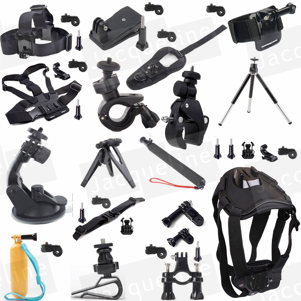JACQUELINE for Accessories Head Chest Stick Tripod Kit for Sony HDR-AS15 AS20 AS30V AS200V AS300 AS100V AZ1MINI FDR-X1000V/W 4 k dz chm1 clip head mount kit for sony action camera fdr x1000v hdrr as200v hdr az1vr hdr as100v