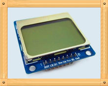 Gratis Verzending! 5110 display module/1.6 inch lcd-scherm/PCD8544 drive/blauw backlight(China)