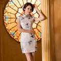 Women Chinese traditional dress vestidos 2016 female chi-pao Qipao Cheongsam Office Ladies work wear Chinese clothing store