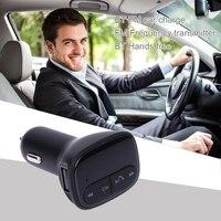 תצוגת LCD Bluetooth Car Kit משדר FM מודולטור דיבורית שיחות עם יציאת USB 2.1A מטען לרכב עבור ipad Tablet Smartphone