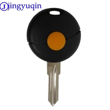 jingyuqin 5ps 1 Button Remote Car Key Shell For Benz Smart Fortwo Cabrio City Crossblade 1998-2012 Uncut Blade Fob Case Cover(China)