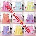 BEST Baby Girl Dress Beautiful Floral 1 year birthday dress  kids party dresses vestido infantil size 0M-24M Factoryer