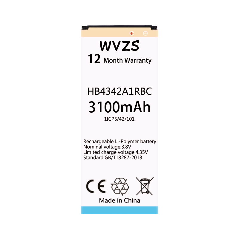 Mobile Phone Batteries Wvzs 3100mah Li-polymer Battery Hb4342a1rbc For 4a Honor 5a Lyo-l21 Y5ii Y5 Ii Ascend 5 Y6 Scl-tl00 Cun-u29 Batteries Diversified Latest Designs