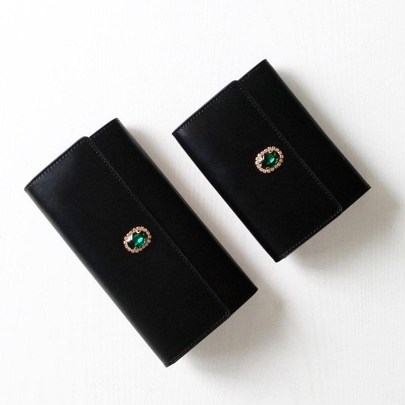 Women Wallets Purses Wallet Diamond Famous Brand Credit Card Holder Coin Purse Cellphone Pocket Genuine leather Money Bag c390