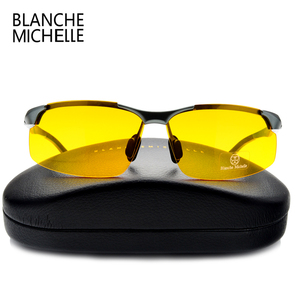 Image 5 - 2020 Aluminum Magnesium Men Sunglasses Polarized Sports Driving Night Vision Goggles Sunglass Fishing UV400 Rimless Sun Glasses