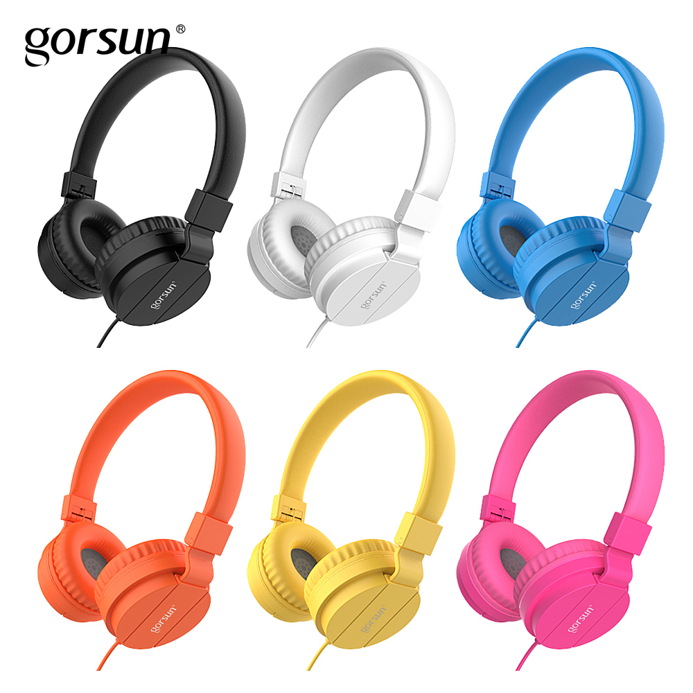BASS Headphones, Lightweight Stereo Foldable Wired Headphones for Kids Adjustable Headband Headset for Phones Computer PC Music kanen wired stereo lightweight foldable headphones adjustable headband headsets with microphone for smartphones iphone