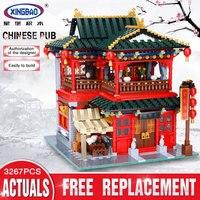 Xingbao 01002 3267Pcs MOC Creative Series The Beautiful Tavern Set Children Education Building Blocks Bricks Boy