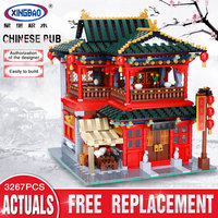 Xingbao 01002 3267Pcs MOC Creative Series The Beautiful Tavern Set Children Education Building Blocks Bricks Boy