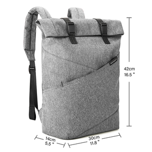 Image 4 - BAGSMART Laptop Rucksack Weekender Reise Business Mehrzweck Roll Top Mode Rucksack Passt 15,6 Zoll Laptops