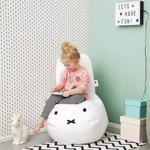 Cartoon Rabbit Kids Bean Bag With Filler Home Lazy Bean Bag Chair Children Pouf Tatami Sofa Bed Kids Room Leisure Beanbag Couch(China)