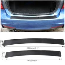4D fibra de carbono coche para parachoques trasero y maletero desgaste Protector Anti-rayado embellecedor cobertor para alféizar Guard Edge Decal Sticker Strip
