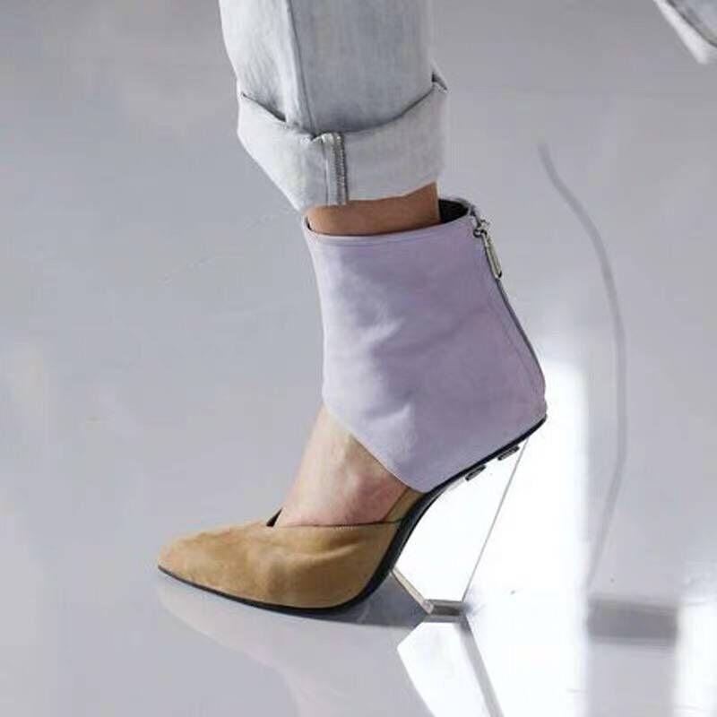 Scarpe delle donne di Estate Trasparente di Alta Tacco Pompe Sandali Gladiatore Tacco Trasparente Plataforma Lolita V cut PVC Scarpe Sandali 44-in Pumps da donna da Scarpe su  Gruppo 3