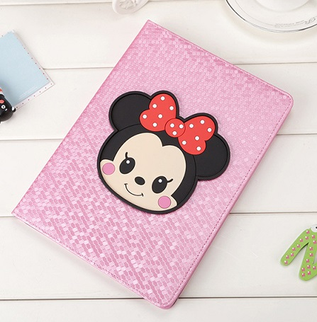 Cartoon Minnie case for new Ipad 9.7inch 2017 version,Black white pink A1822 smart cover,Leather flip tablet protector,Free Ship new laptop keyboard for exo smart cn 87 v2 smart cn55 smart cn63 smart cn79 smart cn87 black sp spanish version teclado
