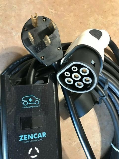 Cargador Evse Tipo 2 240 voltios 32 Amp EV Cable de carga para coche NEMA 14-50 enchufe
