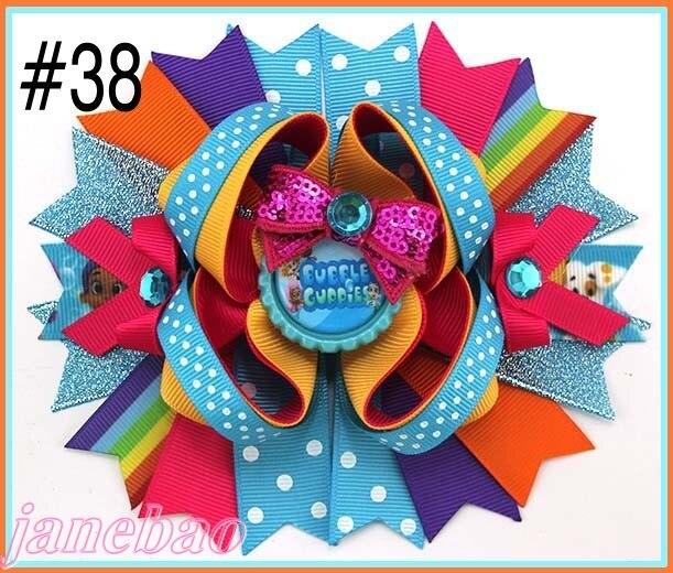 free shipping 50pcs 6 big inspired hair bows character hair bows descendants hair bows minion hair