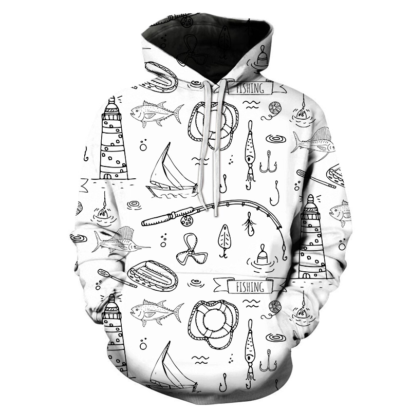 Mens 2019 New Spring Style All-in-one Fashion Men's Casual Hoodie Comfortable Pullover Mathematical Geometry Print Hoodies