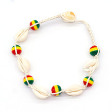 New Hand Knitted Rope Chain Ankle Bracelets Colored Beads Shell Bohemian Beach Anklets for Women Jewelry
