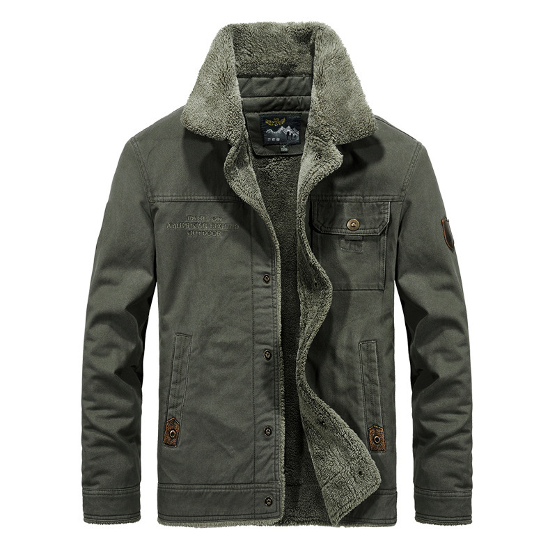 <font><b>Winter</b></font> New 5XL 6XL Mens <font><b>Jacket</b></font> <font><b>Military</b></font> Fashion Warm Fur Slim Fat Male Casual <font><b>Jacket</b></font> Coat Men Brand Clothing Overcoat By3166 image