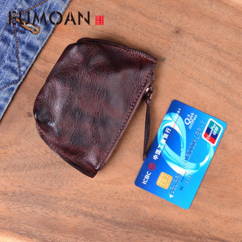 EUMOAN Soft Genuine Leather Coin Purses Women\'s Small Change Money Bags Wallets Holder Case Mini Pouch Zipper Carteira Feminina