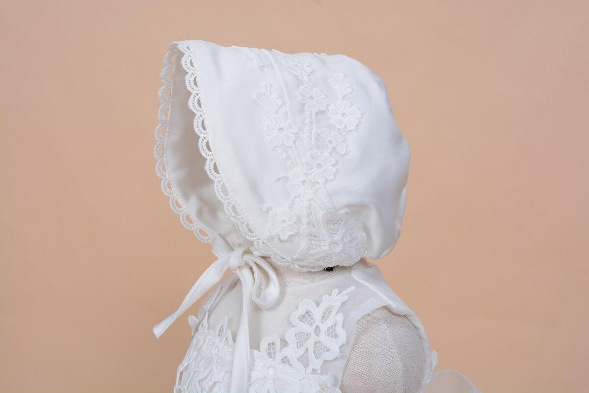 2019 Nyári új baba lány keresztség ruha kalap ball ruha szilárd - Bébi ruházat - Fénykép 6