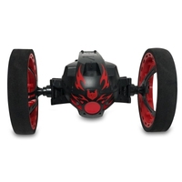 High Speed RC Car Bounce Jumping Cars PEG 81 Remote Control Toys Flexible Wheels Rotation Music LED Light Stunt Car Kids Toy
