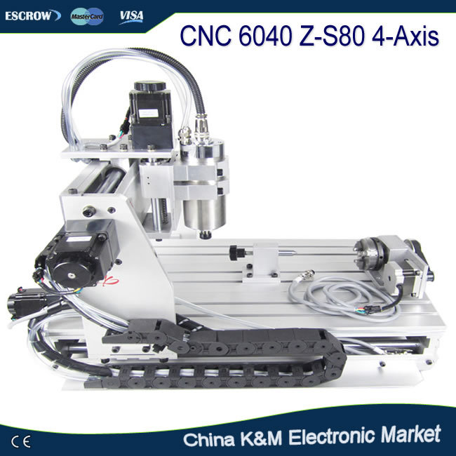 CNC 6040 Z-S80 4 axis 3D wood metal engraving machine engraver PCB drilling cutting router with 1.5kw spindle mini engraving machine diy cnc 3040 3axis wood router pcb drilling and milling machine
