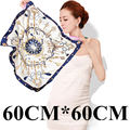 60cm*60cm Elegant luxury metal key chain tassel pattern ladies small square scarves 60cm H big spring and summer winds