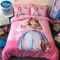 100%Cotton Bedding Set Soft Children Princess Quilt Cover Pillow case Duvet cover Bed Sheet Bed Linen Bedroom Single Queen King