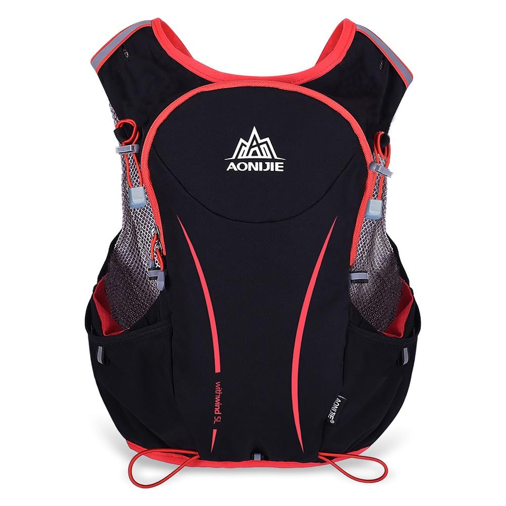 AONIJIE Men Women 5L Outdoor Running Backpack Hydration Vest Pack Cycling Shoulder Bag Sports Trail Racing Marathon Hiking