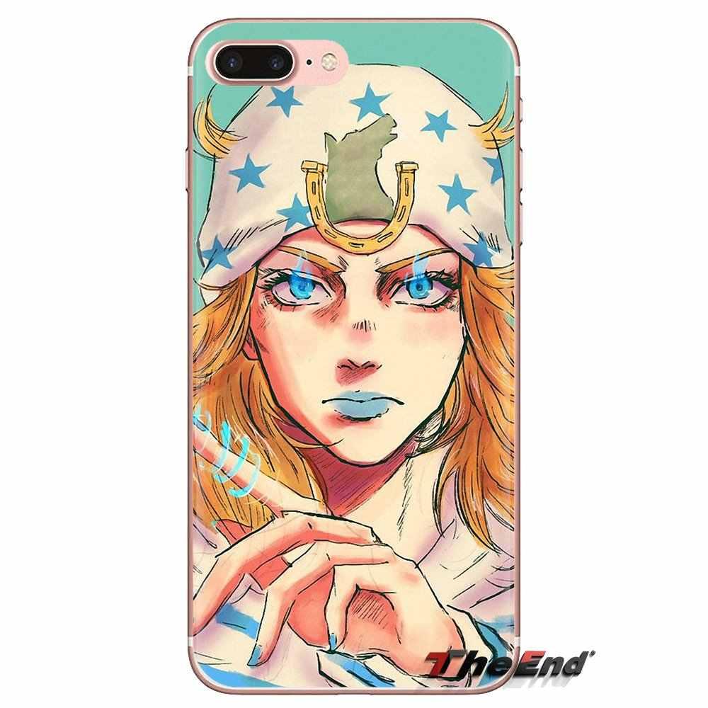 Transparan TPU Cover Tas Aneh Petualangan JoJo Anime untuk Samsung Galaxy S3 S4 S5 Mini S6 S7 Edge S8 S9 s10 Plus Catatan 3 4 5 8 9