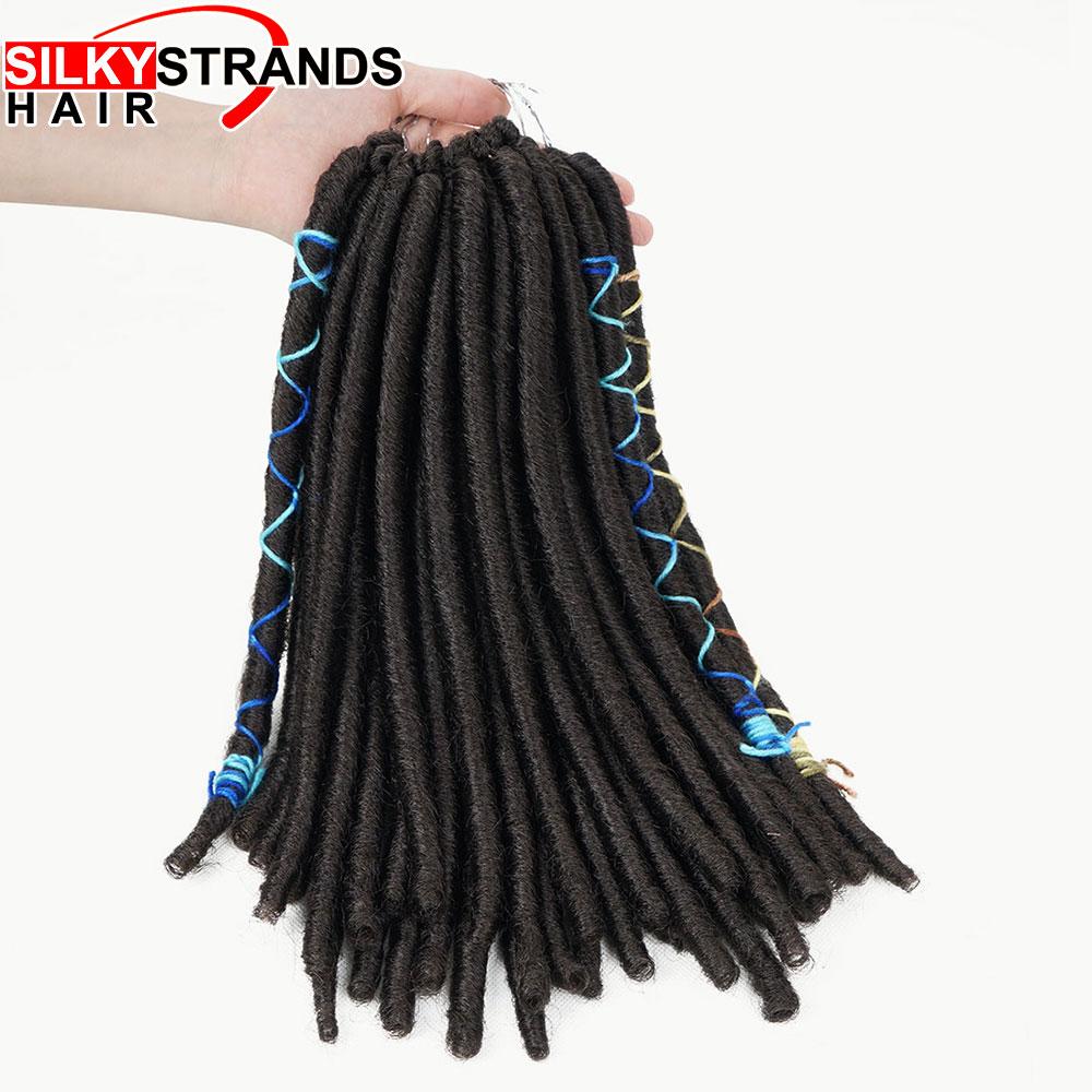 Hot Sale Kanekalon Crochet Dreadlocks Hair Extensions Short Dreads
