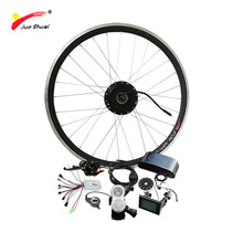 Free Shipping Electric Bike Conversion Kit 48V 350W Hub Moto E Tricycle Conversion Kit Front Drive Ebike Electric Bicycle Motor(China)