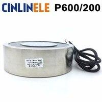 CL P 600 200 14000KG 140000N Holding Electric Magnet Lifting Solenoid Sucker Electromagnet DC 6V 12V