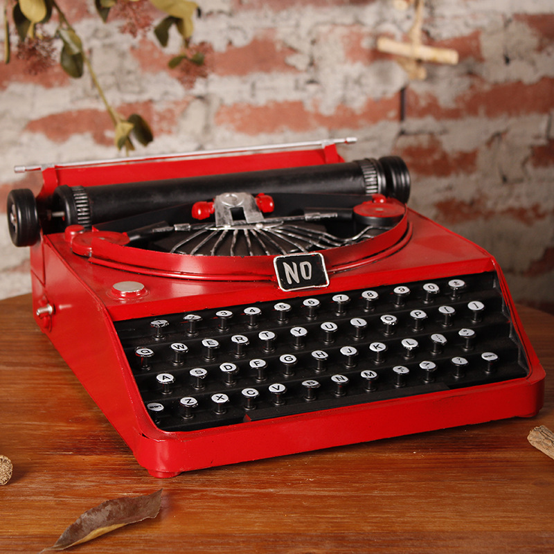 Typewriter Wrought iron Ornaments Retro Decorative Ornaments Crafts Decoration Gift Typer Photographic Props Showcase Display