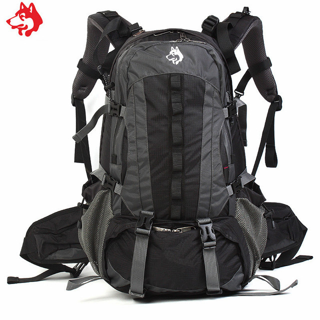 40L outdoor male sports backpack Red/Black/Army Green multi straps ...