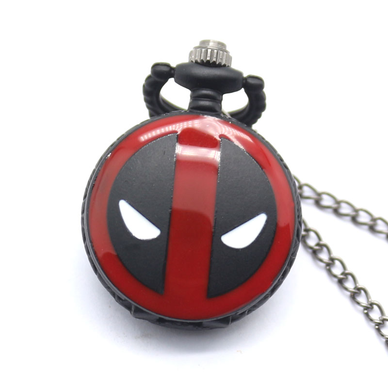 Reloj Mujer Small Pocket Watch Spider Man Design Quartz Fob Watches With Necklace Chain Xmas Gift For Pocket Watch Loki