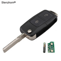 2Buttons Flip Key Case 434MHz Chip For VOLKSWAGEN SEAT SKODA Key Fob 1J0 959 753 AG