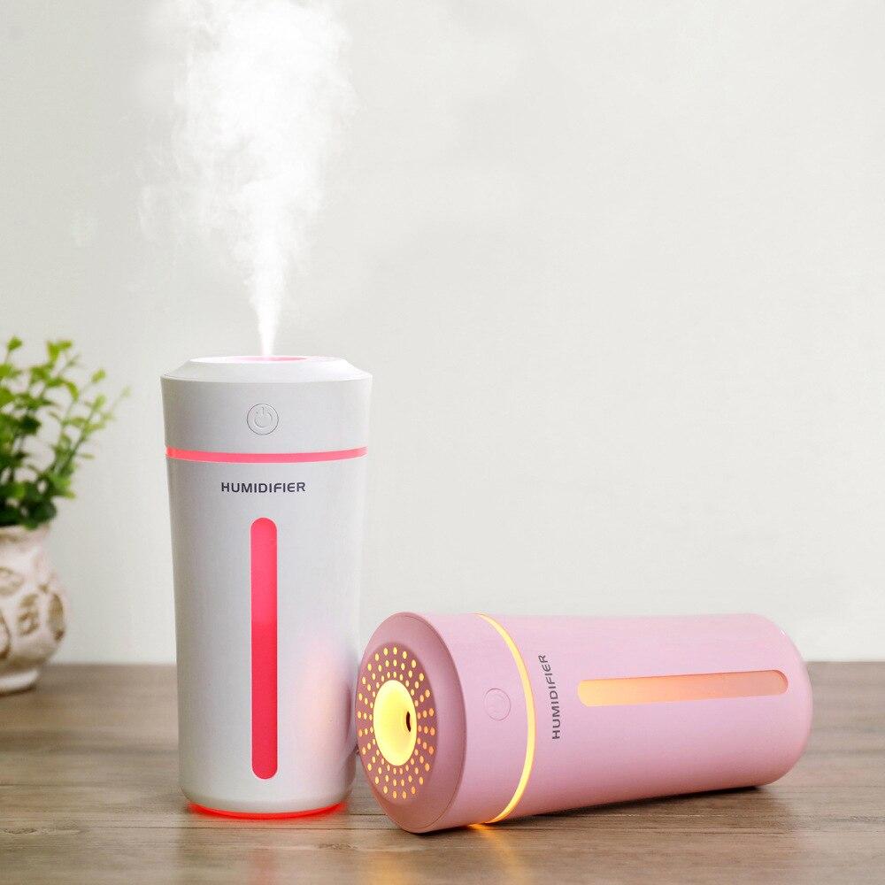 270 ml copo umidificador de ar usb aroma difusor óleo essencial para casa escritório aromaterapia humidificador difusor led nightlight lâmpada
