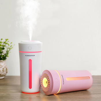 270ML Cup Air Humidifier USB Aroma Essential Oil Diffuser For Home Office Aromatherapy Humidificador Difusor LED nightLight Lamp mini led ice cream ultrasonic humidificador usb air humidifier for car home aromatherapy essential diffuser with aroma lamp