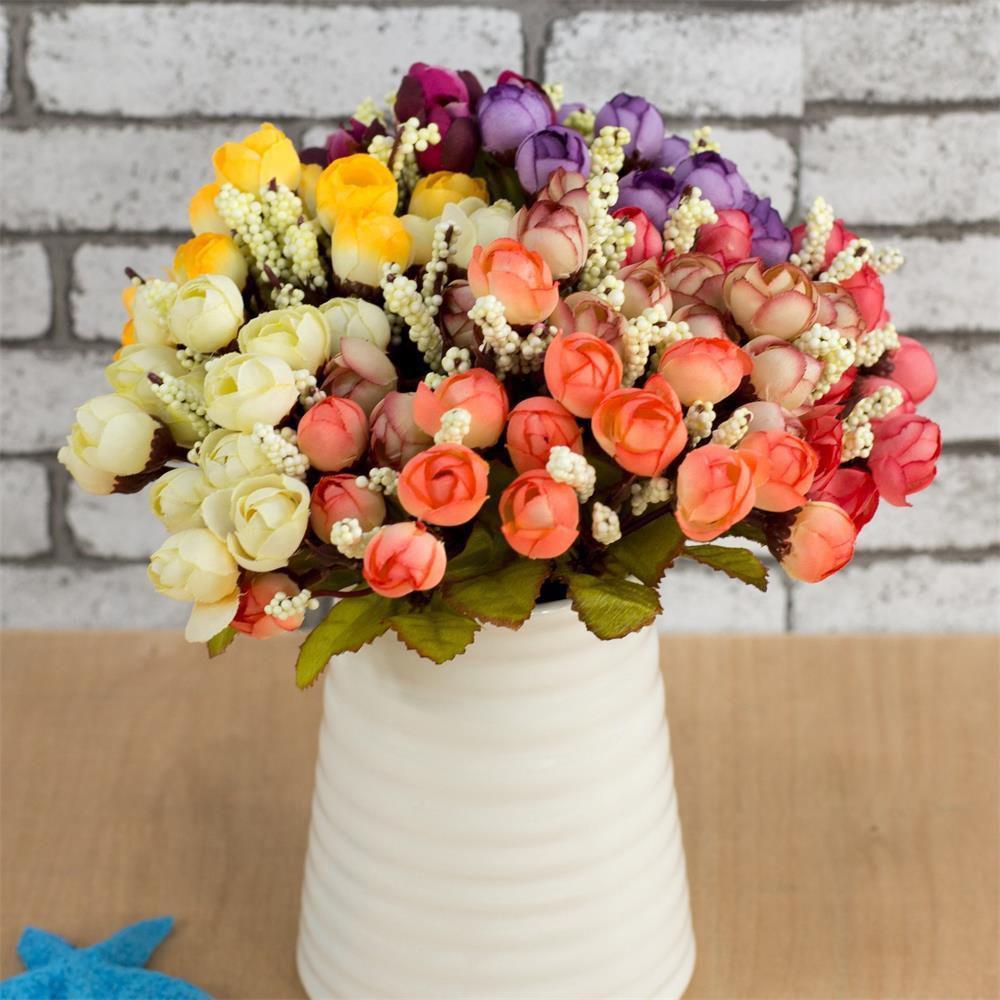 Popular artificial daisy flower head buy cheap artificial daisy mini cute iron vase with silk daisy flowers artificial rose flower 15 headsset for dhlflorist Gallery