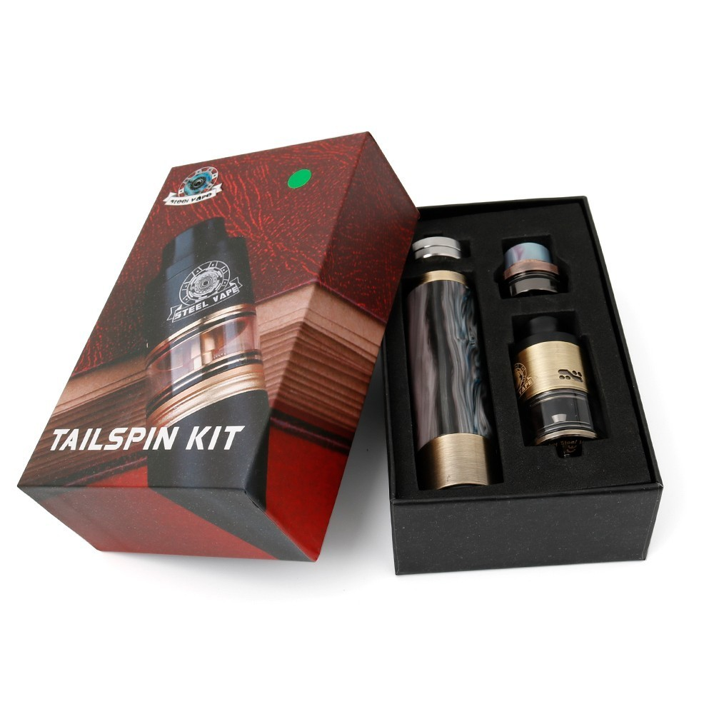 , Original Steel Vape Tailspin Mechanical Mod Vape Pen Kits Vaporizer Hookah Tailspin Smoke Kit High quality SteelVape  E Cigs